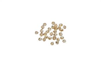 Swarovski Crystal Golden Shadow 5328 3mm Bicones