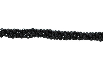 Black Onyx A Grade Polished 4mm Faceted Round - 64 Cut