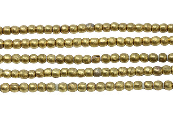 Ethiopian Gold Plated Brass 4mm Round