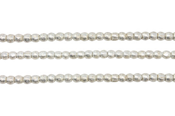 Ethiopian Silver Plated Brass 4-5mm Round