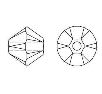 Swarovski Crystal Black Diamond Shimmer 5328 4mm Bicones