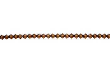Swarovski Crystal Smoked Topaz 5328 4mm Bicones