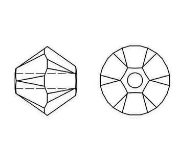 Swarovski Crystal Siam 5328 4mm Bicones
