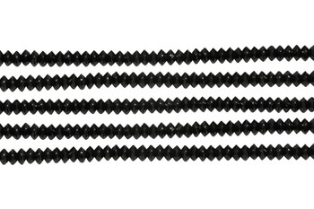 Black Tourmaline Polished 2x3mm Faceted Saucer