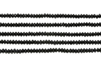 Black Spinel Polished 1.5x3mm Faceted Saucer