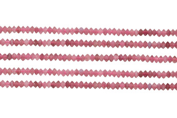 Pink Tourmaline Polished 2x3mm Faceted Saucer