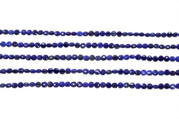 Natural Lapis Polished 2mm Faceted Coin