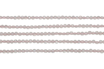Rose Quartz Polished 2mm Faceted Coin