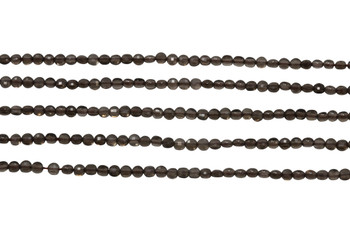 Smoky Quartz Polished 2mm Faceted Coin