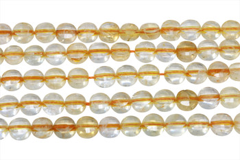 Citrine A Grade Polished 6mm Faceted Coin