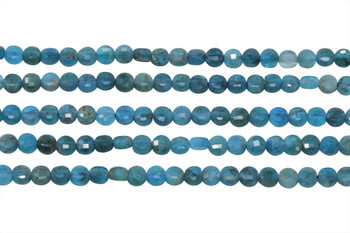 Apatite Polished 4mm Faceted Coin