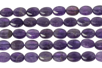 Amethyst Polished 8x10mm Faceted Oval
