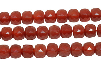 Carnelian Polished 8mm Faceted Cube