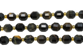 Tiger Eye Polished 7x8mm Prism Rondel