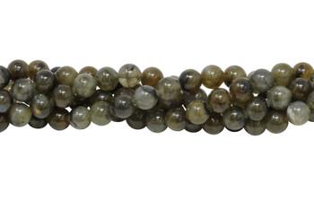Natural Brown Labradorite Polished 8mm Round