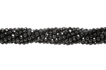 Black Spinel A Grade Polished 3mm Faceted Round