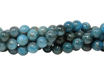 Apatite Polished 8mm Round - Dark Blue