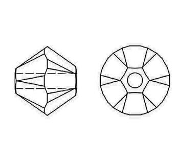Swarovski Crystal Black Diamond AB 5328 4mm Bicones