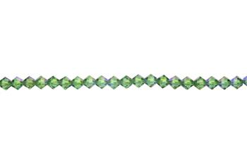 Swarovski Crystal Erinite Shimmer 5328 4mm Bicones