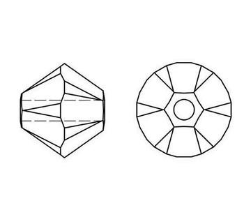 Swarovski Crystal Rose 5328 4mm Bicones