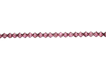 Swarovski Crystal Rose Satin 5328 4mm Bicones