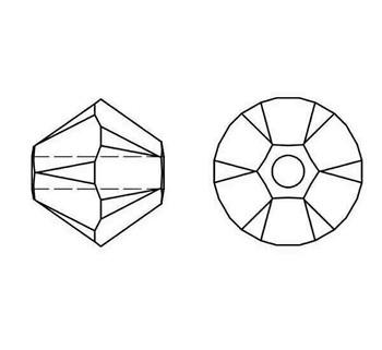 Swarovski Crystal Rose Satin 5328 4mm Bicones
