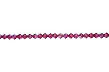 Swarovski Crystal Fuchsia AB 5328 4mm Bicones