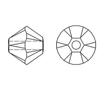 Swarovski Crystal Siam AB 5328 4mm Bicones