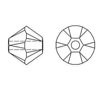 Swarovski Crystal Amethyst AB 5328 4mm Bicones