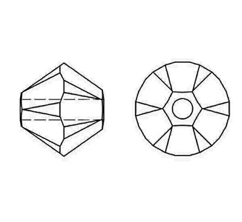 Swarovski Crystal Iris 5328 4mm Bicones