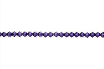 Swarovski Crystal Purple Velvet 5328 4mm Bicones