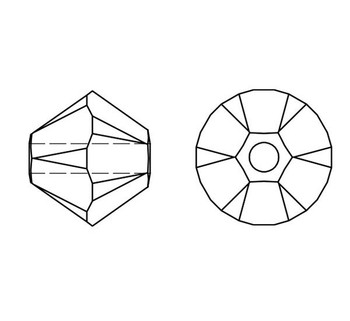 Swarovski Crystal Alexandrite 5328 4mm Bicones