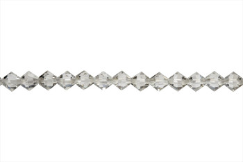 Swarovski Crystal Silver Shade 5328 6mm Bicones