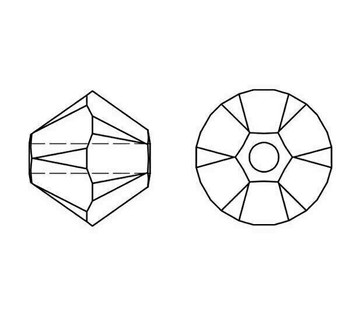 Swarovski Crystal Crystal AB 5328 6mm Bicones