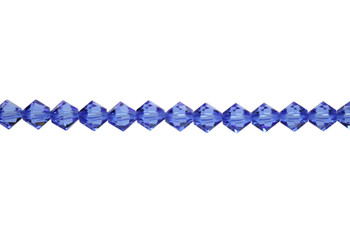 Swarovski Crystal Sapphire 5328 6mm Bicones