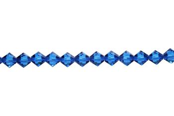 Swarovski Crystal Capri Blue 5328 6mm Bicones