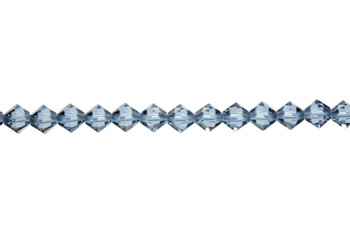 Swarovski Crystal Denim Blue 5328 6mm Bicones