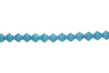 Swarovski Crystal Caribbean Blue Opal 5328 6mm Bicones