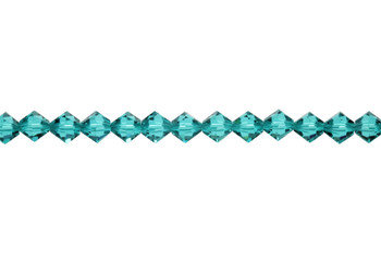 Swarovski Crystal Blue Zircon 5328 6mm Bicones