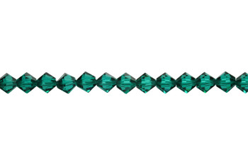 Swarovski Crystal Emerald 5328 6mm Bicones