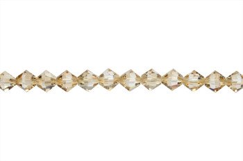 Swarovski Crystal Golden Shadow 5328 6mm Bicones