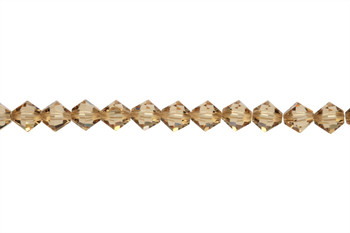 Swarovski Crystal Light Colorado Topaz 5328 6mm Bicones