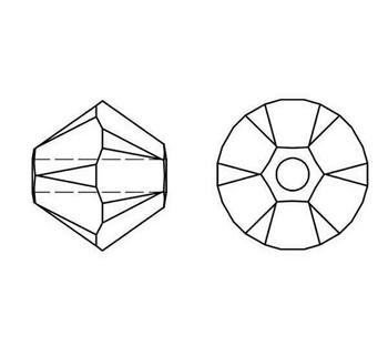 Swarovski Crystal Topaz 5328 6mm Bicones