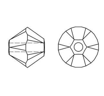 Swarovski Crystal Padparadscha 5328 6mm Bicones