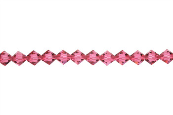 Swarovski Crystal Indian Pink 5328 6mm Bicones