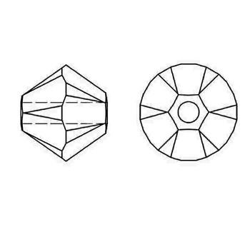 Swarovski Crystal Siam 5328 6mm Bicones