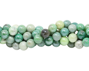Green Opal Coated Polished 8mm Round