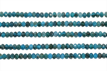 Dark Blue Apatite Polished 2.5x4mm Faceted Rondel