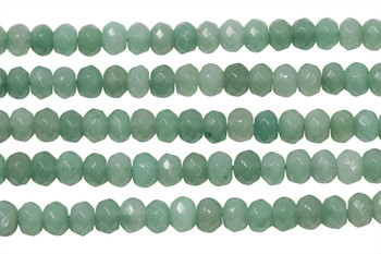 Aventurine Polished 5x8mm Faceted Rondel