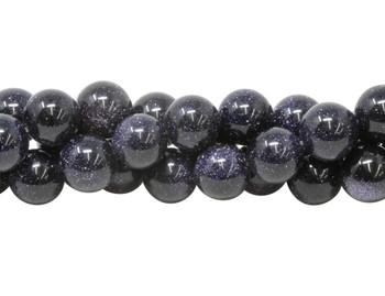 Blue Goldstone Polished 12mm Round
